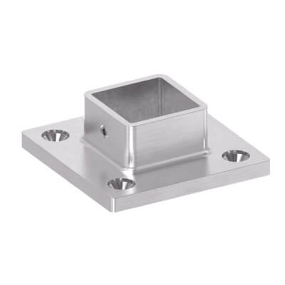 Embase murale externe pour tube carré IN106-281