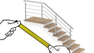 garde corps escalier avec Palier